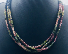 142.80 Crt Natural Tourmaline Necklace