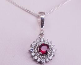 Rhodolite Garnet Necklace.