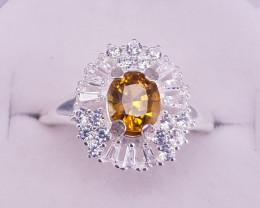 Natural Mali Garnet Ring.