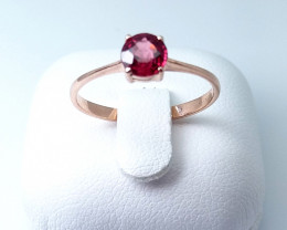 ROSE GOLD RING 9K WITH TOP CLASS SPINEL STONE E#2