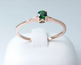 ROSE GOLD RING WITH TOP CLASS TSAVORITE STONE E#5