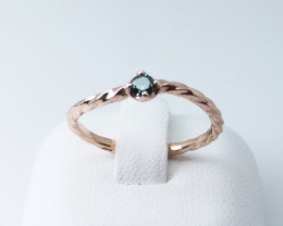 DIAMOND ROSE GOLD RING WITH TOP CLASS STONE E#8