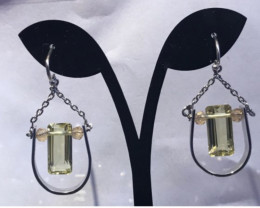 Citrine& silver Earrings
