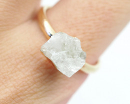 Raw  Crystal  Gemstone in electroformed Ring BR24