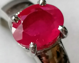 Natural Ruby Ring 2.50cts
