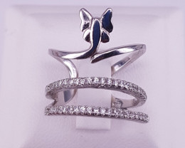 Zircons Ring with Silver 925