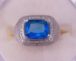 Natural Blue Topaz Ring.