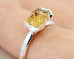 Raw Citrine Stone Rings