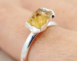 Raw Beautiful Citrine Gemstone  Rings Br 126