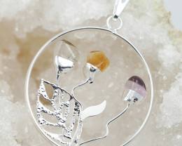 Happines Garden ,Amehyst.Citrine ,crystal BR139