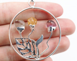 Happines Garden ,Amehyst.Citrine ,crystal BR140