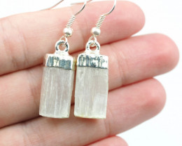 Spiritual Selenite 3 pc set Earrings & Pendant BR 148