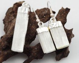 Spiritual Selenite 3 pc set Earrings & Pendant BR 149