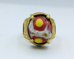 37.50 Crt Gold Plated Gabriel Ring Brass Materail