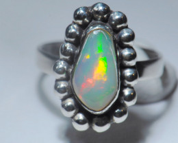 5.7SZ BRILLIANT WELO OPAL STERLING RING