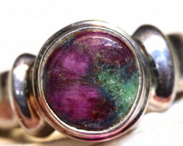 42.26 CTS -    NATURAL RUBY ZOISITE RING  SG- 2966