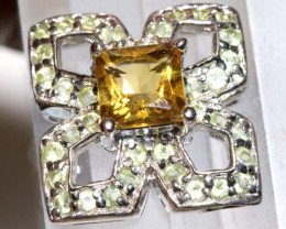 15.31CTS -CITRINE SILVER PENDANT  SG-2985