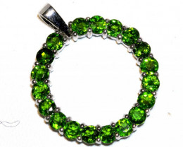 21.42 CTS - NATURAL CHROME DIOPSIDE PENDANT  SILVER  SG-3010