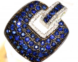 23.88 CTS - SAPPHIRE PENDANT  SILVER  SG-3014
