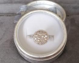 Diamond Cluster Ring 0.50 TCW.