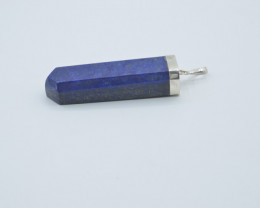 127. CT NATURAL LAPIS LAZULI PENDENTS WITH SILVER T