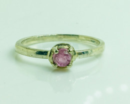 7.69 Crt Natural Tourmaline 925 Siver Ring