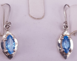 Natural Topaz Earrings.