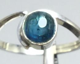 Natural Tourmaline Cabochon 1.5 ct Handmade 925 Sterling silver ring