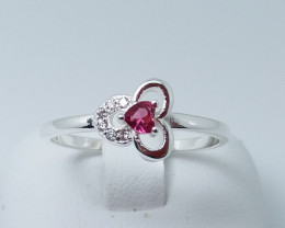 NATURAL 925 RINGS WITH TOP CLASS CUBIC ZIRCONIA M#17