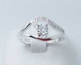 NATURAL 925 RINGS WITH TOP CLASS CUBIC ZIRCONIA M#20