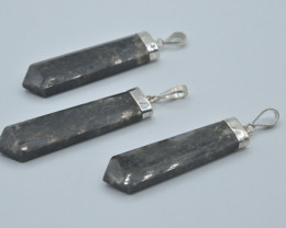 128.CT NATURAL Corundum Kashmir Sapphire Pendant With Silver