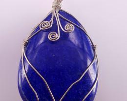 Natural lapis lazuli pendent.