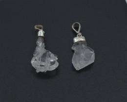 27. Carats Natural Faden Quartz Silver Pendant