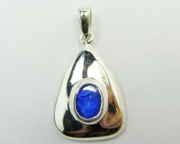 Australian Doublet Opal set in Silver Pendant  OPJ 2239