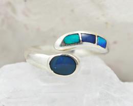 Australian Opal Inaly  Silver Ring  OPJ 2246