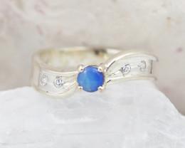Australian doublet Opal Silver Ring  OPJ 2248
