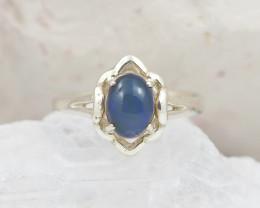 Australian solid Opal Silver Ring  OPJ 2253