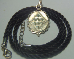 999 silver designs~ faceted pendent ~ 15.65cts