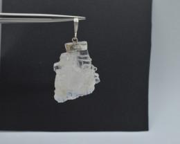 67. Carats Natural Faden Quartz Silver Pendant