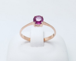 ROSE GOLD RING 9K WITH TOP CLASS TOURMALINE STONE E#12