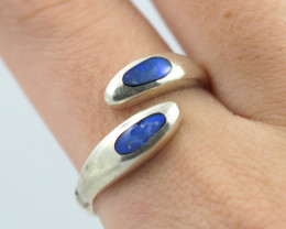 Australian Inlay Opal Silver Ring  OPJ 2260