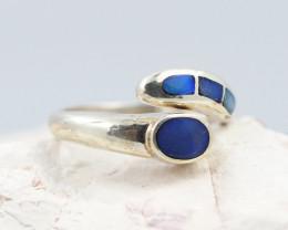 Australian Opal Inlay Silver Ring  OPJ 2263