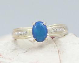 Australian Opal doublet Silver Ring  OPJ 2266