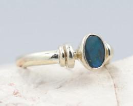 Australian Opal doublet Silver Ring  OPJ 2267