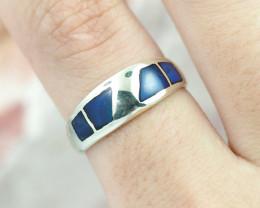 Australian  inlay Opal Silver Ring  OPJ 2280