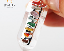 Terminated Point Crystal 7 Chakra Pendant BR 222