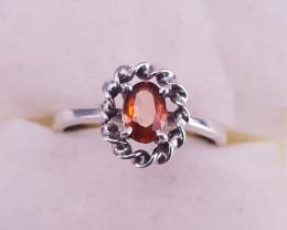 Hessonite Garnet Ring.