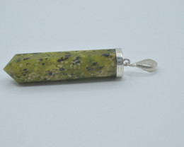 40.ct Natural Serpantine Pendant With Silver