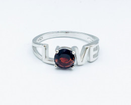 12.66 Crt Natural Rhodolite Garnet 925 Siver Rhodium Plated Ring