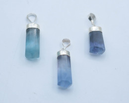 72.05 ct Natural Fluorite Pendents With Silver ~ G AQ